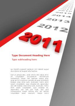 Upcoming Decade Word Template, Cover Page, 08273, Consulting — PoweredTemplate.com