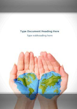 Two Hemispheres Word Template, Cover Page, 08274, Nature & Environment — PoweredTemplate.com