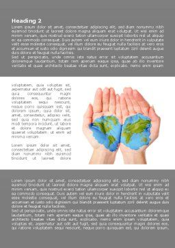 Two Hemispheres Word Template, First Inner Page, 08274, Nature & Environment — PoweredTemplate.com