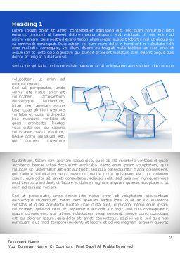 Glass Cubes Word Template, First Inner Page, 08276, Business — PoweredTemplate.com