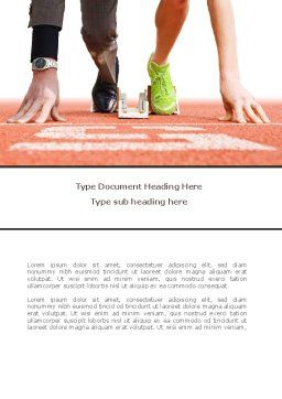 Business Sport Word Template, Cover Page, 08278, Careers/Industry — PoweredTemplate.com
