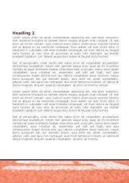 Business Sport Word Template, Second Inner Page, 08278, Careers/Industry — PoweredTemplate.com