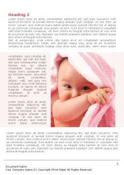 Little Baby Happy Face Word Template, First Inner Page, 08279, People — PoweredTemplate.com
