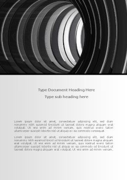 Tunnel Word Template, Cover Page, 08282, Construction — PoweredTemplate.com