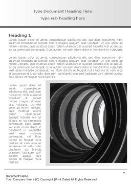 Tunnel Word Template, First Inner Page, 08282, Construction — PoweredTemplate.com