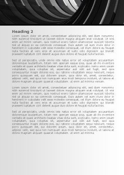 Tunnel Word Template, Second Inner Page, 08282, Construction — PoweredTemplate.com