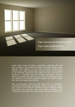 Empty Room Word Template, Cover Page, 08285, Construction — PoweredTemplate.com