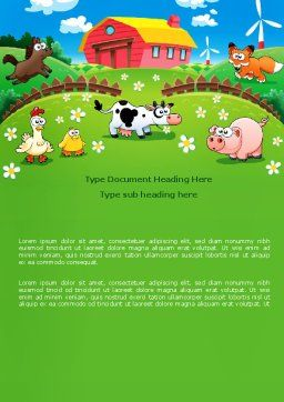 Funny Farm Word Template Cover Page