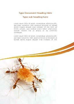 Ants Team Work Word Template, Cover Page, 08289, Business Concepts — PoweredTemplate.com