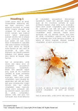 Ants Team Work Word Template, First Inner Page, 08289, Business Concepts — PoweredTemplate.com