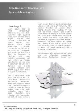 Gray Puzzle House Word Template, First Inner Page, 08291, Construction — PoweredTemplate.com
