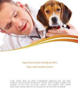 Veterinarian Word Template Cover Page