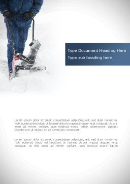 Snow Cleaning Word Template, Cover Page, 08293, Utilities/Industrial — PoweredTemplate.com