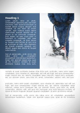 Snow Cleaning Word Template, First Inner Page, 08293, Utilities/Industrial — PoweredTemplate.com