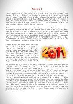 2011 Word Template, First Inner Page, 08294, Holiday/Special Occasion — PoweredTemplate.com