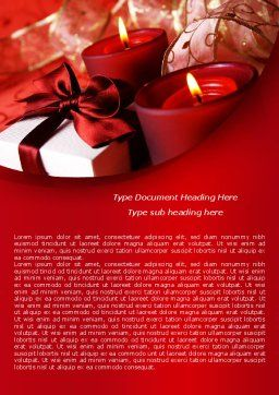 Red Christmas Candles Word Template, Cover Page, 08295, Holiday/Special Occasion — PoweredTemplate.com