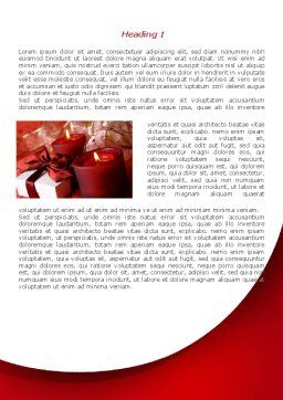 Red Christmas Candles Word Template, First Inner Page, 08295, Holiday/Special Occasion — PoweredTemplate.com