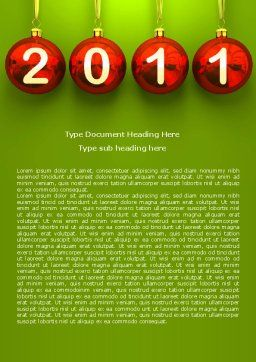 Year of 2011 Word Template, Cover Page, 08296, Holiday/Special Occasion — PoweredTemplate.com