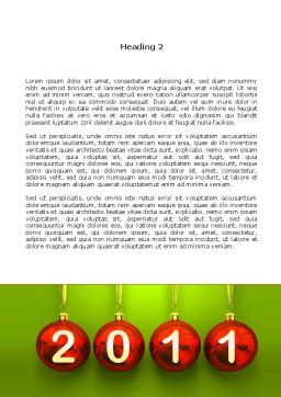 Year of 2011 Word Template, Second Inner Page, 08296, Holiday/Special Occasion — PoweredTemplate.com