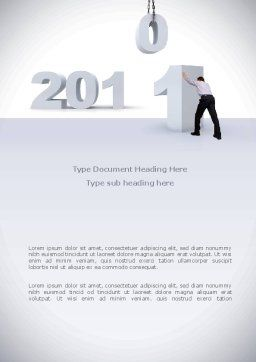 Business Year 2011 Word Template, Cover Page, 08297, Holiday/Special Occasion — PoweredTemplate.com
