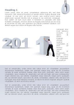 Business Year 2011 Word Template, First Inner Page, 08297, Holiday/Special Occasion — PoweredTemplate.com