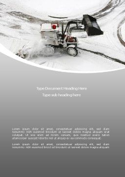 Snow Cleaning Machine Word Template Cover Page
