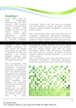 Green Mosaic Word Template, First Inner Page, 08300, Technology, Science & Computers — PoweredTemplate.com