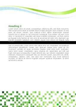 Green Mosaic Word Template, Second Inner Page, 08300, Technology, Science & Computers — PoweredTemplate.com