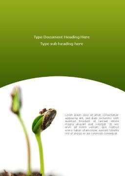 Sprouting Seed Word Template, Cover Page, 08302, Agriculture and Animals — PoweredTemplate.com