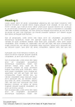 Sprouting Seed Word Template, First Inner Page, 08302, Agriculture and Animals — PoweredTemplate.com