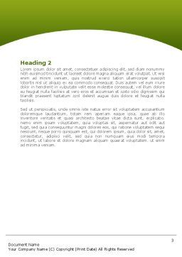 Sprouting Seed Word Template, Second Inner Page, 08302, Agriculture and Animals — PoweredTemplate.com