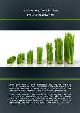 Growing Chart Word Template, Cover Page, 08303, Business Concepts — PoweredTemplate.com