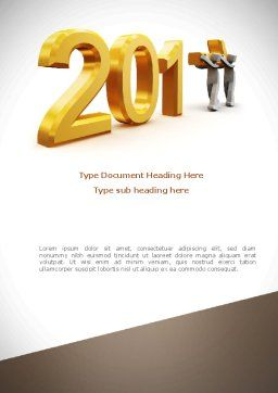 Upcoming Year Word Template, Cover Page, 08304, Business — PoweredTemplate.com