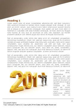 Upcoming Year Word Template, First Inner Page, 08304, Business — PoweredTemplate.com