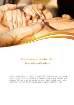 Hands Contact Word Template Cover Page