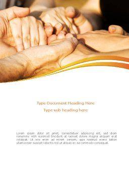 Hands Contact Word Template, Cover Page, 08305, Religious/Spiritual — PoweredTemplate.com