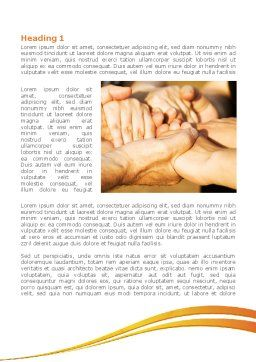 Hands Contact Word Template First Inner Page