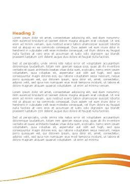 Hands Contact Word Template Second Inner Page