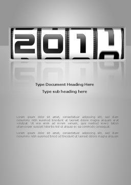 2011 Timer Word Template, Cover Page, 08306, Holiday/Special Occasion — PoweredTemplate.com