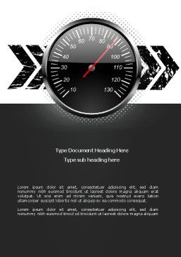 Speed Restrictions Word Template, Cover Page, 08307, Careers/Industry — PoweredTemplate.com