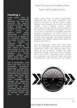 Speed Restrictions Word Template, First Inner Page, 08307, Careers/Industry — PoweredTemplate.com