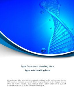 DNA Strand Word Template, Cover Page, 08309, Medical — PoweredTemplate.com