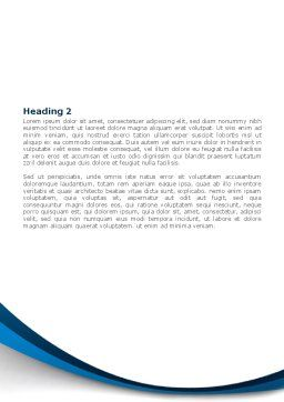 DNA Strand Word Template, Second Inner Page, 08309, Medical — PoweredTemplate.com