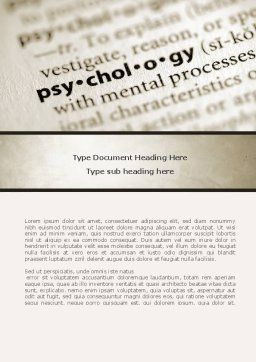 Definition Of Psychology Word Template, Cover Page, 08310, Technology, Science & Computers — PoweredTemplate.com
