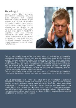 Business Trouble Word Template, First Inner Page, 08311, Consulting — PoweredTemplate.com