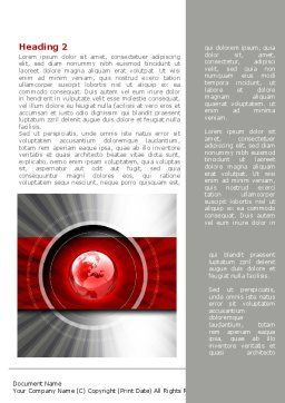 Red Globe Theme Word Template First Inner Page
