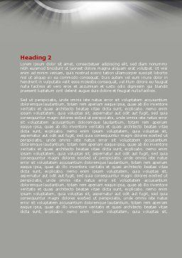 Red Globe Theme Word Template, Second Inner Page, 08312, Global — PoweredTemplate.com