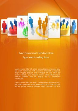 Social Interactions Word Template, Cover Page, 08315, Telecommunication — PoweredTemplate.com