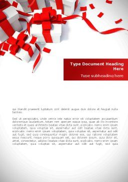 Wrapped Presents Word Template, Cover Page, 08317, Holiday/Special Occasion — PoweredTemplate.com