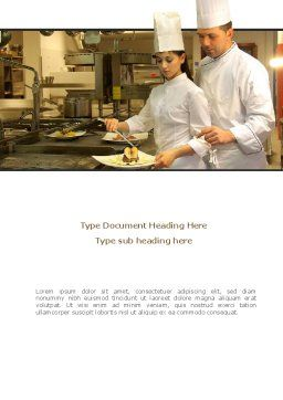 Female Chef Word Template, Cover Page, 08318, Food & Beverage — PoweredTemplate.com